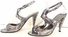 Enzo Angiolini Gray High Heel Women's Shoes 6.5M Open toe High Heel*1008