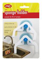 Jokari  Sink Sponge Holder  Plastic  White