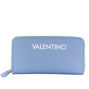 VALENTINO BAGS Masha Zip Around Damen Wallet Geldbörse Blau Weiß