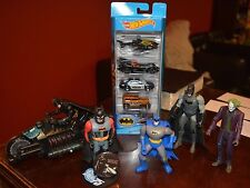 BATMAN ACTION FIGURE COLLECTION OF LOVED TOYS INCLUDES NEW HOT WHEELS PACK