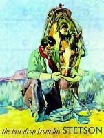 VINTAGE ADVERT COWBOY STETSON LAST DROP NEW ART PRINT POSTER PICTURE CC4684