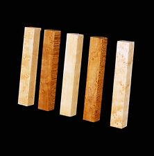 "5 Birdseye Maple Pen Blanks, ¾""x5"", Craft turning, carving wood"