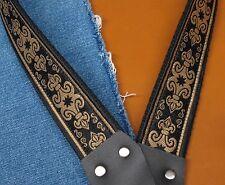 FLEUR DE LIS Cotton USA made TROPHY A & F style Mandolin Strap