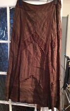 Ladies Chocolate Edwardian Maxi Skirt From Next 14 BNWT