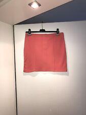 Neu Sehr Schöner Damen Rock Mini Jersey Koralle Rot Größe 42 H&M Party Abend