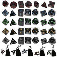35Pcs TRPG Würfel-Set Dungeons & Dragons Würfelset D4-D20 Würfelspiel
