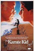 "KARATE KID Cast (x4) Authentic Hand-Signed ""RALPH MACCHIO"" 11x17 Photo (JSA COA)"