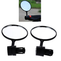 2Pcs Cycling Bike Bicycle Handlebar Flexible Safe Rear View Rearview Mirror