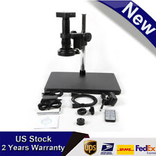 34mp 1080p Hdmi Usb Industrial Video Microscope Camera With180x Lens Set Led 60fps