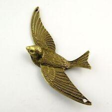 6pcs Vintage Bronze Alloy Swallow Bird Pendant Charms 75*41*10mm Jewelry 30234