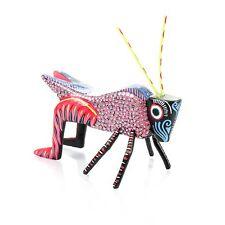 Grasshopper Oaxacan Alebrije Wood Carving Mexican Folk Art Sculpture Painting