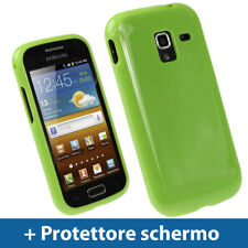 Verde Custodia TPU Gel per Samsung Galaxy Ace 2 I8160 Android Case Cover Rigida