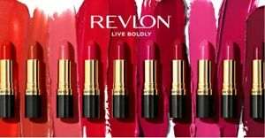 REVLON SUPER LUSTROUS LIPSTICK PINK / BROWN / RED / BURGUNDY / CORAL / NUDE