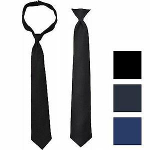 Solid Pre-Tied Necktie Breakaway Safety Pullaway Uniform Police Security Guard