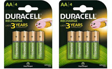 8 x Duracell AA Rechargeable Batteries - 1300 mAh HR6 DC1500 PRE STAY CHARGED