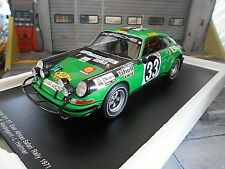 PORSCHE 911 S ST Rallye Safari 1971 #33 Waldegaard Shell Spark Resin Highe 1:18