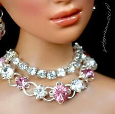 """Rhinestone Necklace and Earring Jewelry Set for 16"""" Tonner Tyler 121B"""