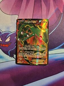 Rayquaza EX - 123/124 - Heavily Played Full Art Ultra Rare Pokemon Card