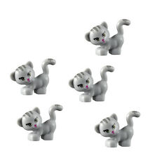 LEGO 5 pcs NEW Friends GREY CAT Pet Kitten Animal Minifigure 41101 3189 41039