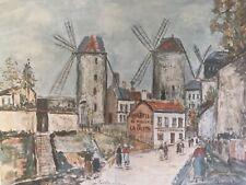 Maurice Utrillo, print, Windmills of Montmartre , unframed,plate c1949