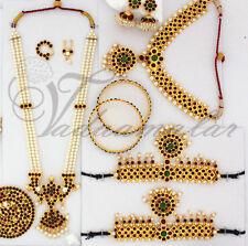 Kids Small size Temple Jewellery Design South Indian Bharatanatyam Set JSetA039