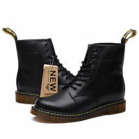 Genuine leather Men boots Dr. Martens Winter ankle boots fashion shoes Lace Up