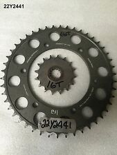 YAMAHA FZR 750R OW01 1989 SPROCKET SET GENUINE OEM LOT22  22Y2441