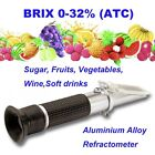 0-32% Brix Refractometer for Sugar Degree Checking Fruit Juices Soft Drinks Wine