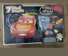 Cars 3 Disney Pixar  7 Wood Puzzles - Fast Jackson Storm, Cruz Ramirez.