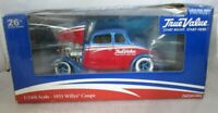 Ertl True Value 1933 Willys Coupe 1/24th Scale Coin Bank in box