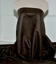"""FAUX SUEDE FABRIC 100% POLYESTER, DOUBLE FACE, SOFT 60"""" CHOCOLATE BROWN"""