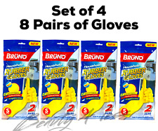 Household Cleaning Rubber Gloves Strong Multi-Purpose Gloves 8 Pairs SMALL