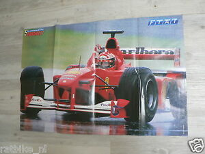 106 FORMULE ONE F1 POSTER MICHAEL SCHUMACHER GRAND PRIX FERRARI 2000 OR 2001