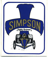 Vtg Hot Rod Sticker Simpson Equipment Chutes Drag Race Old Stock Speed Shop