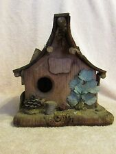 "HAND CRAFTED BIRD HOUSE ""LOG CABIN"" CANADIAN WESTERN"