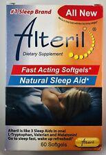 Alteril Natural Sleeping Aid Softgels ~ 60 ct ~ L-Tryptophan,Valerian, Melatonin