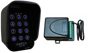Wireless Keypad with a Receiver to Suit Most Brands of Gate Openers & Systems