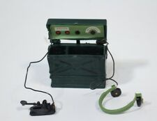 "VTG 60s 12"" GI Joe Field Morse Code Radio Headphones Telephone Case Original"