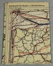 Buch: Autokarte für Baden + Württemberg / Eisenbahnkarte für Baden um 1945 /S238