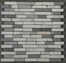 Mosaic Marble Stone Tiles 30x30 Naturel Cream Grey Yawood Bath 8 mm M032, NEW