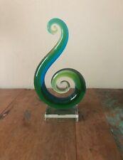 New Glass Sculpture Colour Glass Green Blue Ornament Glass Art Home Decor