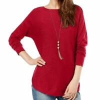 INC International Concepts Women's Shirttail Sweater Red Size XX-Large