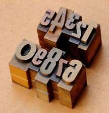 0-9 Zahlen Mix Plakatlettern letterpress Lettern Ziffern Stempel Zahl Ziffer ...