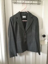 WOMEN'S -SIZE 10- GREY FITTED SUIT JACKET/ BLAZER - TAILORED/ SMART