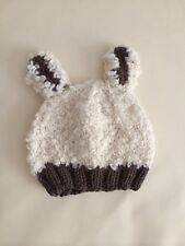 NEW Baby Newborn Crochet Year of Sheep Beanie Hat Photo Prop 0-6 Months