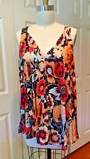 NEW Anthropologie Size M Swing Floral Tank by Vanessa Virginia