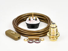 Table Lamp Wiring Kit Brass Bulb Holder E14 SES Fit 10mm Switch Cable Plug