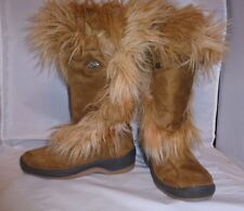 EUC Pajar Women's Camel Suede Leather & Fur Winter Boot in Camel Size 37/7