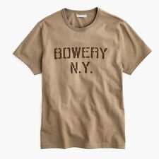 J.Crew Wallace & Barnes Bowery Stencil Graphic Tubular T-Shirt   M   Made in USA