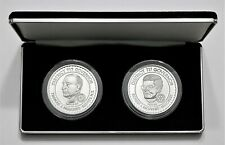 1984–1986 Rotary District 717 Governor Commemorative 1 Oz. .999 Silver - 2 Medal